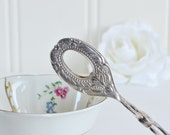 Small cookie and sugar tongs, vintage Swedish ornate server, Nils Johan Sweden