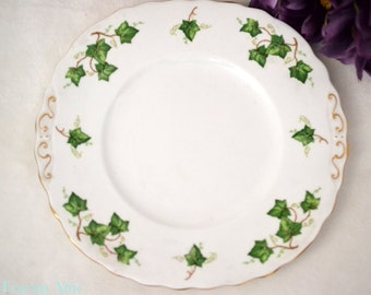 ON SALE Colclough Ivy Leaf Cake Plate, English Bone China Cake Plate, Vintage Cookie Plate, Replacement China, ca 1948-