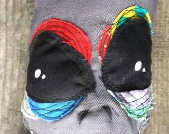 Hank, the Gray Alien with donkey abduction t-shirt handmade ooak art doll