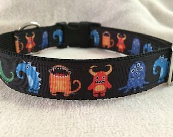 Monsters Print Custom Dog Collar