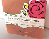 Baby Powder Confetti Scented Goats Milk Soap