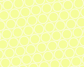 ON SALE - Mini Pearl Bracelets in Citron - Lizzy House for Andover Fabrics - A-7829-V1 - 1/2 Yard