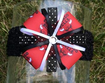 Chicago Bulls Headband or Hair Bow