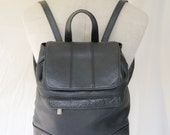 Vintage Wilson Leather Backpack Black FREE SHIPPING