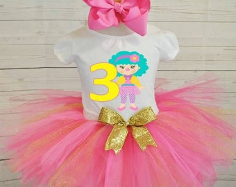 birthday outfit, FREE SHIPPING birthday outfit,birthday girl outfit, birthday tutu,hot pink tutu,girl birthday outfit
