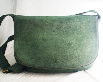 Coach Bag - Green Pebbled Leather Bramble Sonoma Flap Bag
