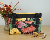 SPECIALLY PRICED  Powerchair-Walker Bag:  Soft cheery Floral designed bag with muted yellow lining.