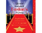 Red Carpet Invitation, Hollywood Birthday Invitation, Glamour Party Invitation, Sweet 16 Invitation, Printed or Printable