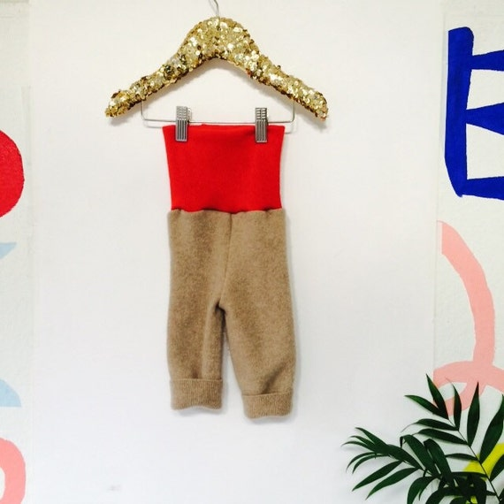 CRAWL 0-3 Months Babies Baby Trousers Pants Joggers Sweatpants in Upcycled Cashmere m Unisex