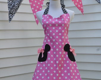Pink Minnie Mouse Apron Inspired by Our Love of Minnie, Ready to Ship as Pictured