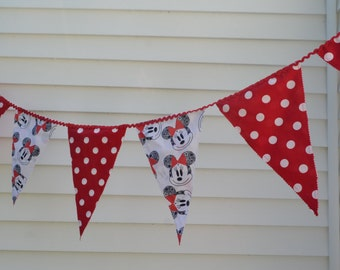 Minnie Party Banner, Bunting, Pennant, Ready to Ship