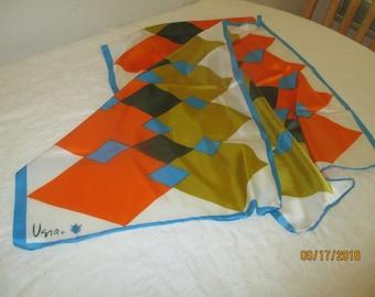 Vera Multi Color Rectangle Scarf - 1960's