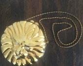 Vtg 80s Shiny Gold Lion's Head Hard Shell Evening Bag by Comeco • Metal Animal Face Disco Novelty Purse Minaudière w/ Rhinestones