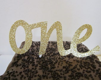 Age Cake Topper ~ ONE ~ TWO ~ THREE ~ Your Choice of Number