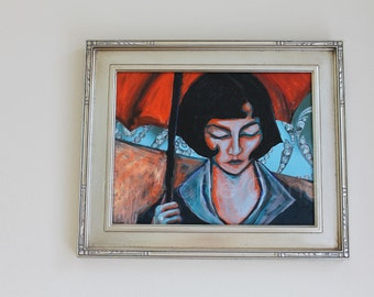 Framed original portrait