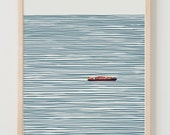 Fine Art Print.  Container Ship.  January 27, 2014.