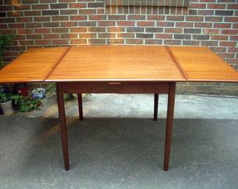 Danish Modern Teak Dining Table, Extension Leaves, Vintage Draw Leaf,  Ostervig Vodder Hundevad Style