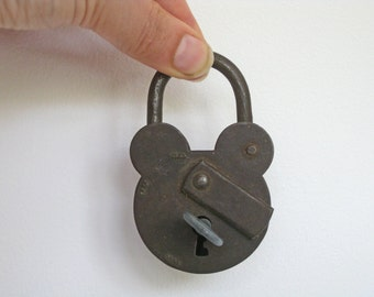French padlock fully working with key