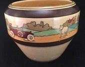 Rare Roseville Tourist Jardiniere - Vintage Cremeware Pottery - Antique