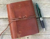 "Leather journal,""Go confidently in the direction of your dreams! Live the life you have imagined,"" Thoreau quote / by moon and hare"