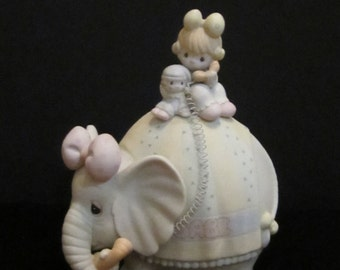 "New Listing Enesco Precious Moments  Porcelian Music Box 1986 Song Played ""Be A Clown"""