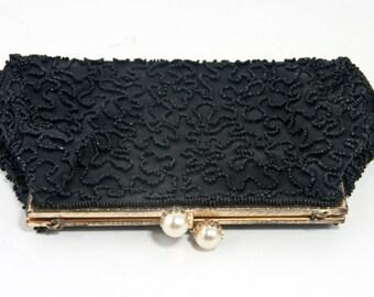 Vintage Beaded Clutch, Vintage Beaded Handbag, Vintage Evening Bag
