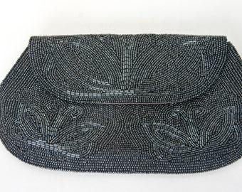 Vintage Josef Beaded Clutch, Vintage Beaded Handbag by Josef, Vintage Evening Bag Beaded in Japan