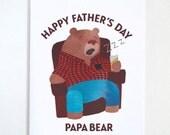 Papa Bear: Father's Day Card