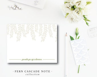Cascade Stationery | Flat A2 Notes Printed Stationery with Blank Envelopes | Fern Cascade | Printed by Darby Cards