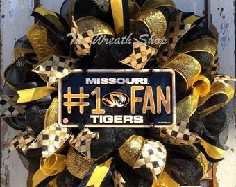 Missouri Tigers Mizzou Wreath