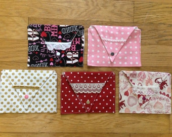 SUPER CLEARANCE:Valentine's Day Fabric Envelopes