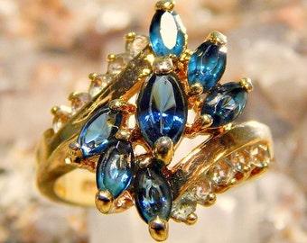 Vintage Blue Sapphire Fashion Ring