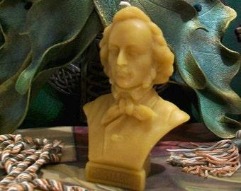 Felix Mendelssohn Bust Beeswax Candle Composer Series