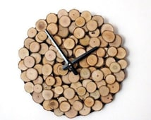 CIJ Sale, Wood Wall Clock, Unique Wall Clock, Trending, Reclaimed Wood, Decor and  Housewares, Rustic Home Decor,  Home and Living