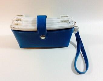 Cash Budget Clutch - Blue