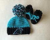 Carolina panther hat and sock set