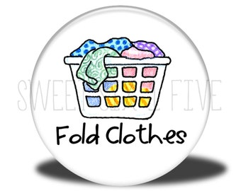 Fold Clothes - Chore Magnet