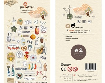 Diary Scrapbook Suatelier Sticker Label Rominisce