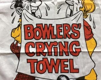 Bowler's Crying Towel Bowling Tea Towel Cotton Towel Gag Gift