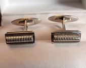 Vintage Rare Sterling Silver Danish Modern Hermann Siersbol Cufflinks