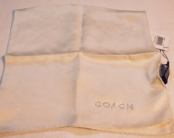 Vintage Authentic Coach Silk Scarf With Original Tags