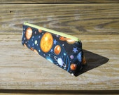 Slim Pencil Case, Solar System, Solar System Pencil Pouch, One of a Kind