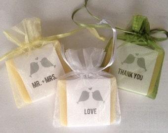 Love Birds Bridal Shower Soap Favors