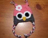 Pink Owl Hat, Owl Hat, Baby Owl Hat, Photo Prop