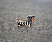 Darby - Dia De Muertos - Black - Premium Enamel Pin