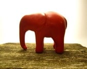 Russell - elephant sculpture polymer clay decoration hand made OOAK