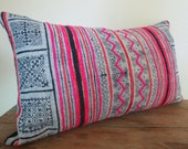 "Cotton Batik,20""x12""Vintage Textile Decorative Cushion cover, Tradition Ethnic fabric Floor Cushions, lumbar cushion"