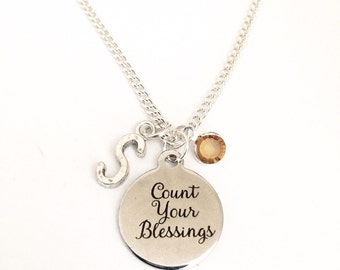 Personalized Count Your Blessings Necklace