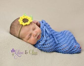 Crochet pattern Sunflower Baby Girl Headband Pattern Instant Download PDF