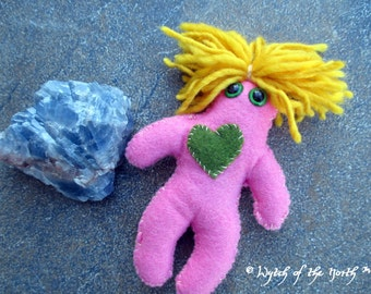 VENUS Planetary Magick Herbal Poppet - Handmade Rustic Plushie, Felt Doll, Pagan Doll, Love, Attraction, Compassion, Romance